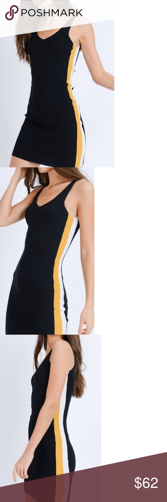 13++ Bodycon dress with stripes down the side trends