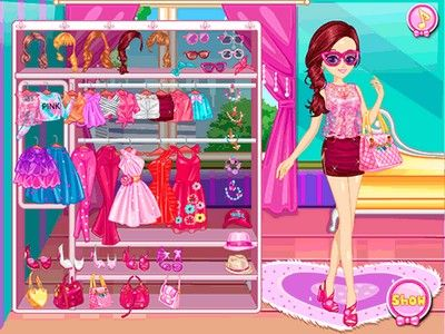 Ella pretty in pink girls's dressing online game play free
