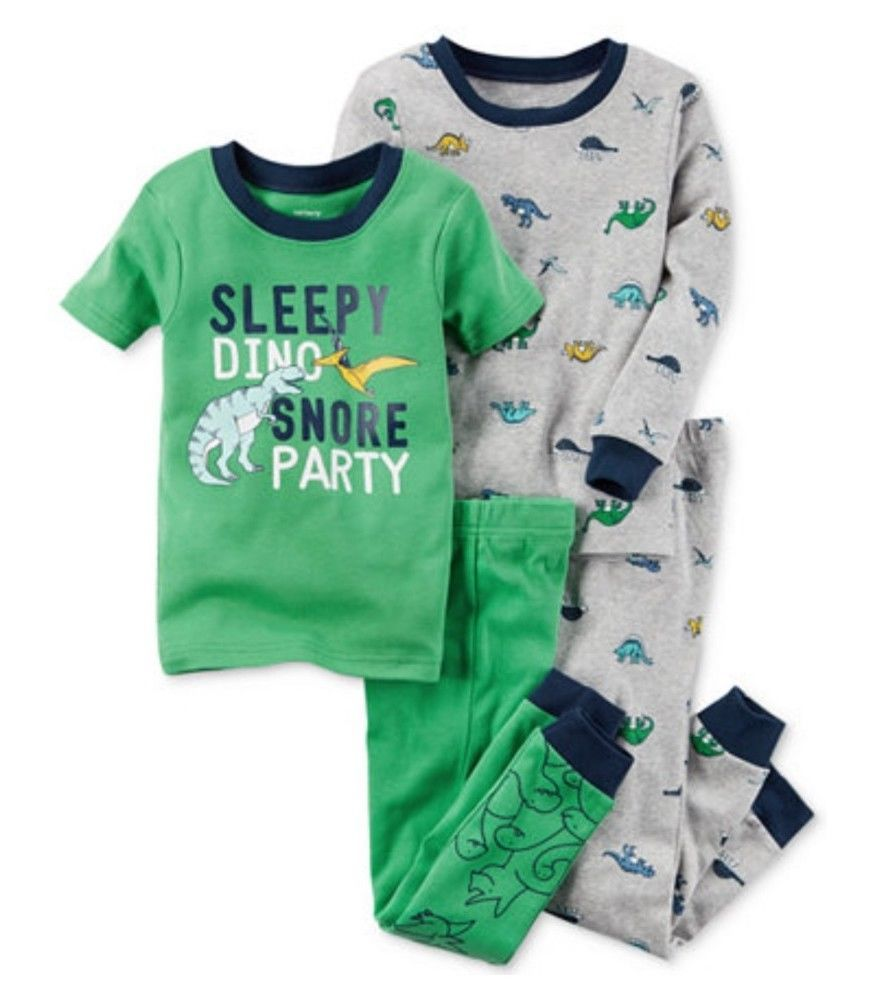 4b65dd203 Carters Baby Boys 4 Pcs Mix and Match Dino Snore Cotton Sleepwear ...