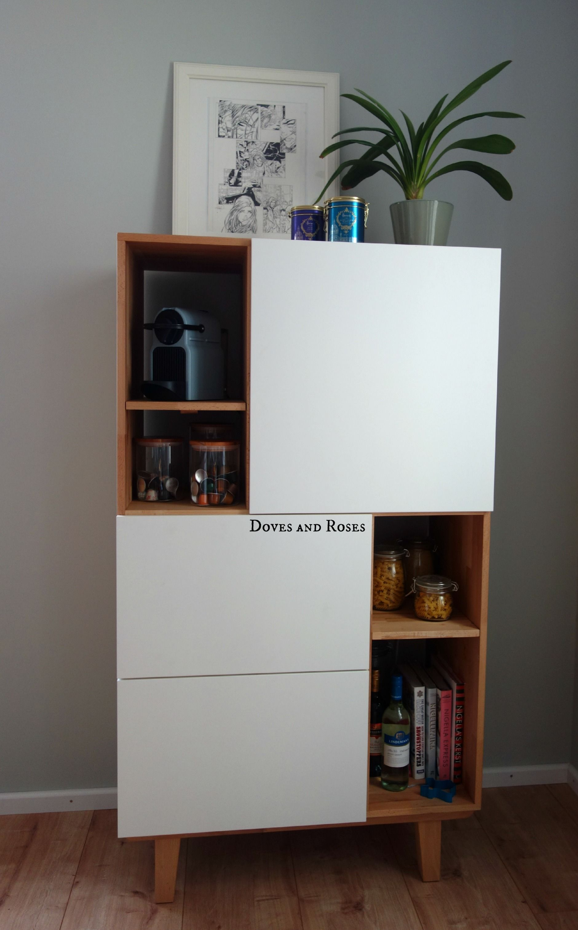 my besta ikea hack to create an amazing scandinavian inspired kitchen storage cabinet. Black Bedroom Furniture Sets. Home Design Ideas