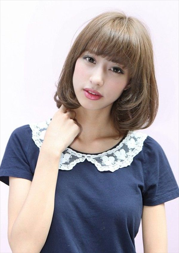 Short Bob Hairstyle For Asian Girlsg 600848 Hair Pinterest