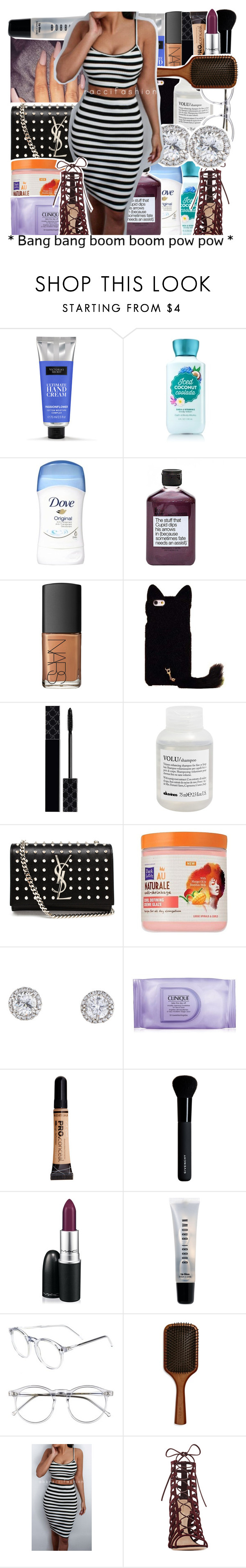 """"""": thirty six :"""" by tynescloset ❤ liked on Polyvore featuring Not Soap, Radio, NARS Cosmetics, Gucci, Davines, Yves Saint Laurent, Dark & Lovely, Clinique, Givenchy, MAC Cosmetics and Bobbi Brown Cosmetics"""
