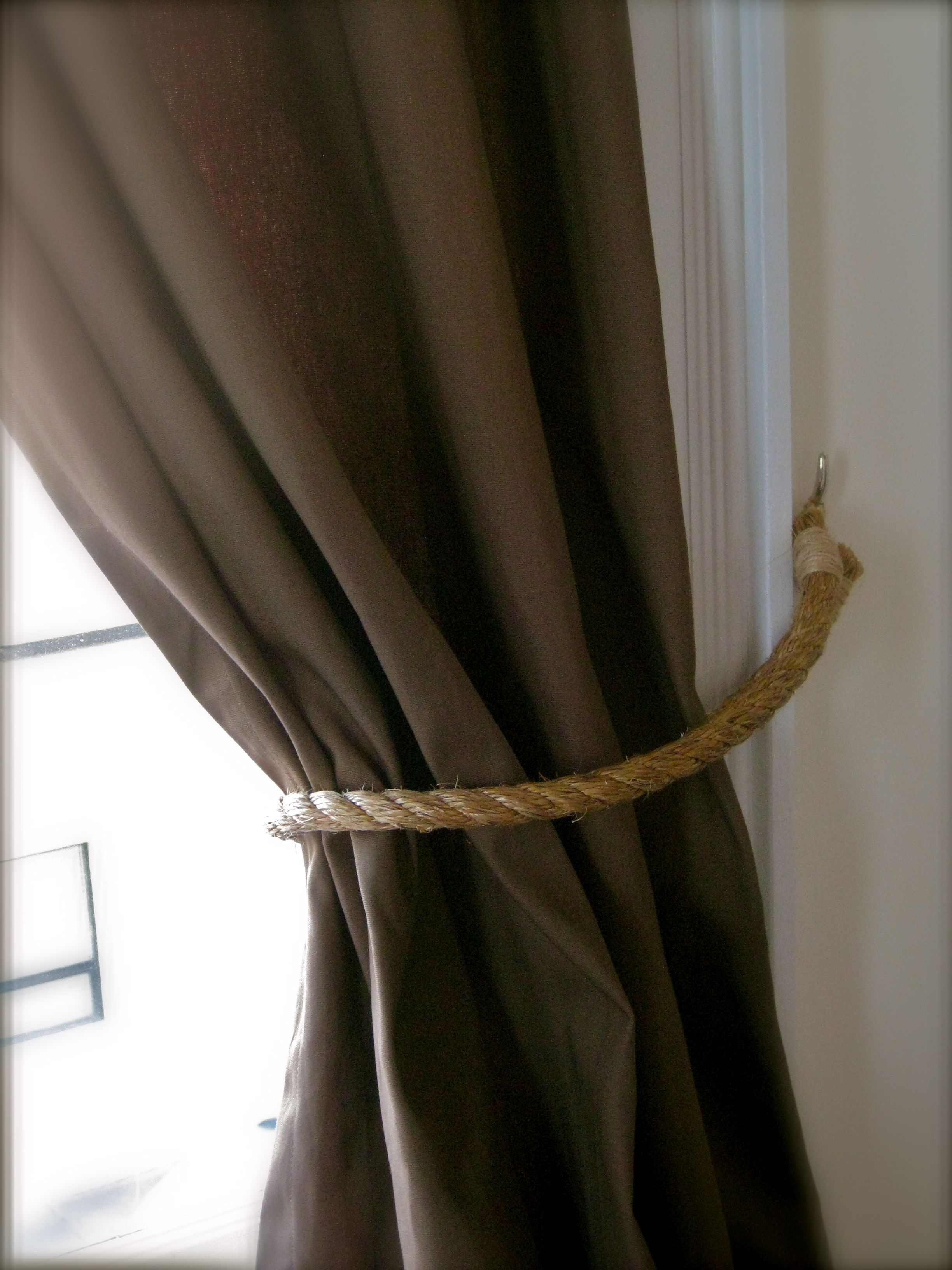 curtain tie backs diy | followed their careful instructions and ...