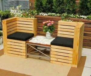 Outdoor Seating Via Recycled Pallets. I Love These Chairs! A Different Look  To The Usual Outdoor Pallet Furniture Which Iu0027m Also A Fan Of.