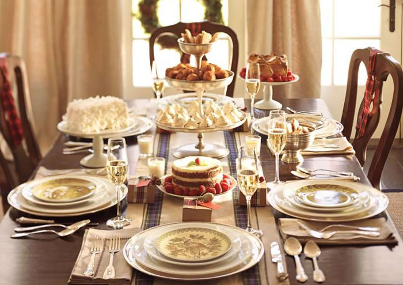 Christmas Party Themes Table Pottery Barn