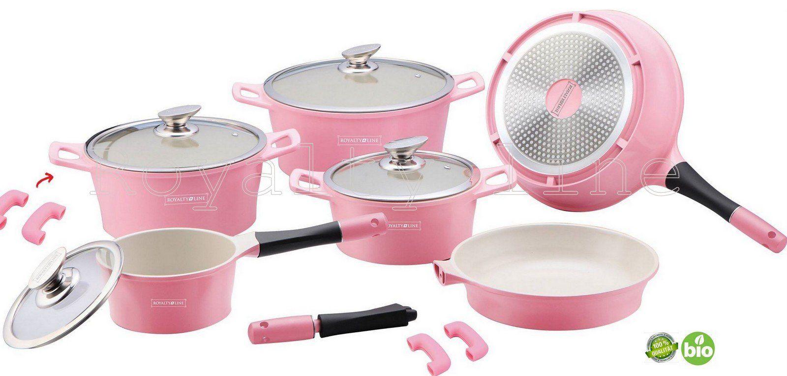 Keramik Kochgeschirr Set 14 Teilig Rosa/pink TV Werbung Royalty Line  Kochtopf