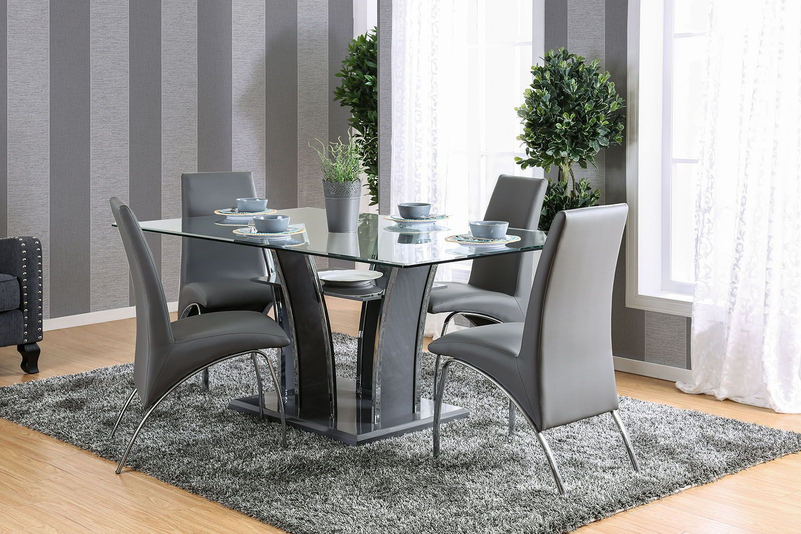 Glenview Dining Table Gray In 2021, Gray Dining Room Set