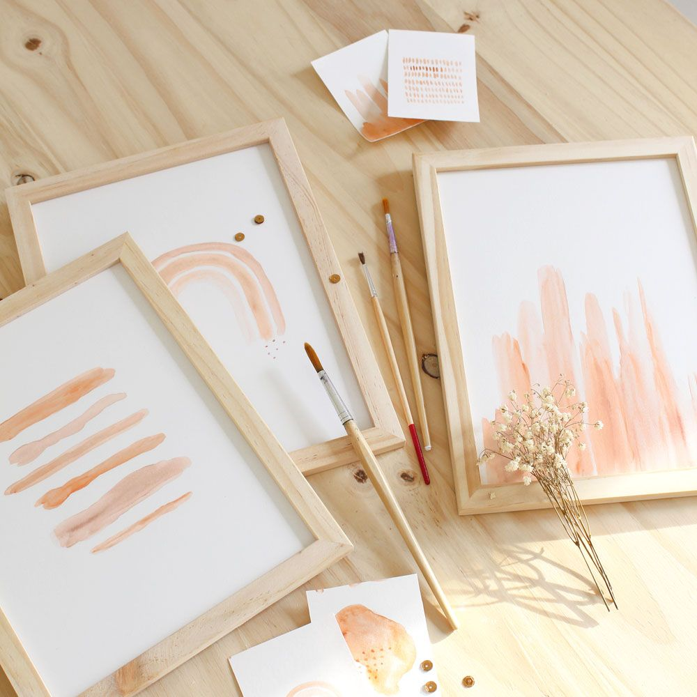Atelier Diy Tableaux Aquarelle In 2020 Diy Room Decor Diy Prints