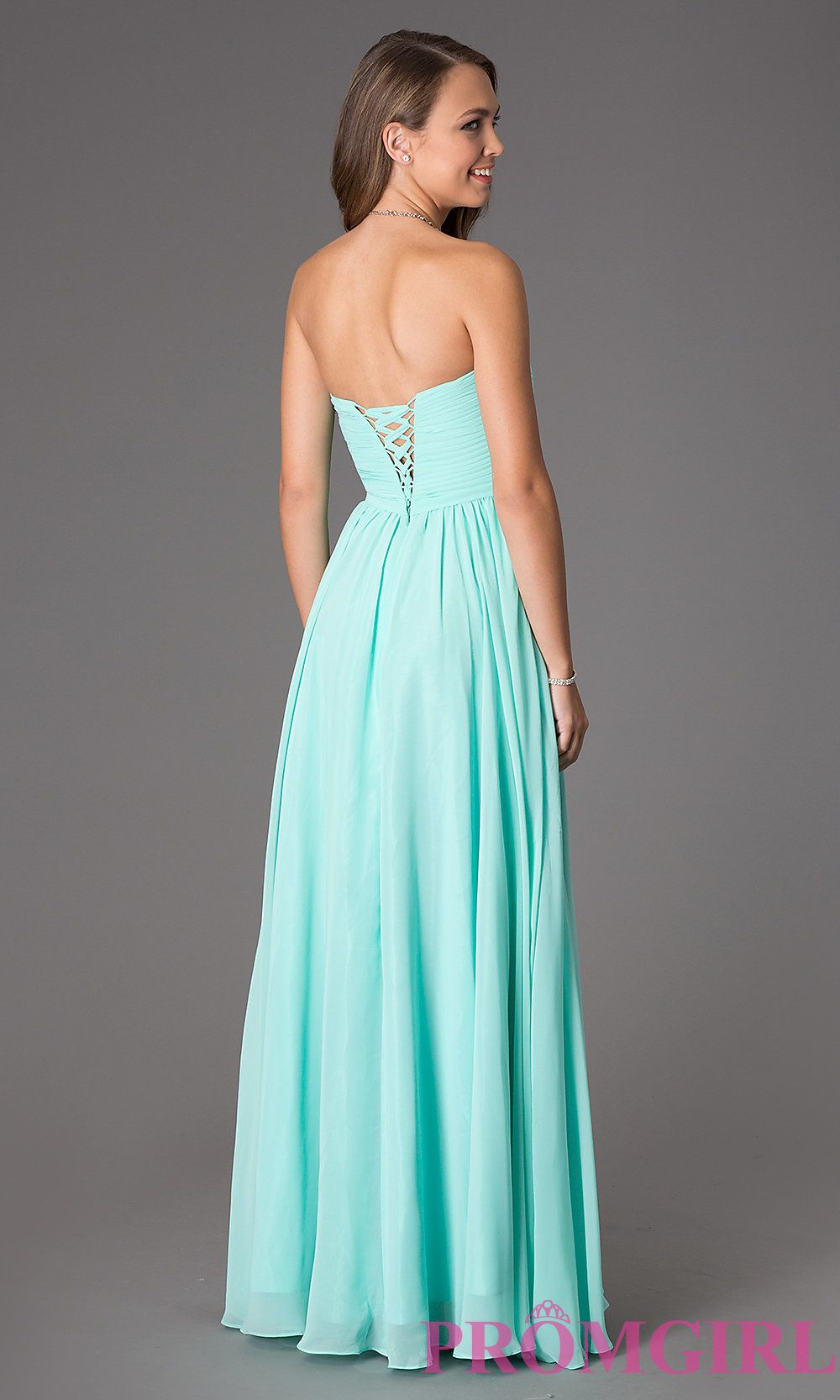 Strapless Prom Dress With Lace Up Back Shops Lace And Prom Dresses