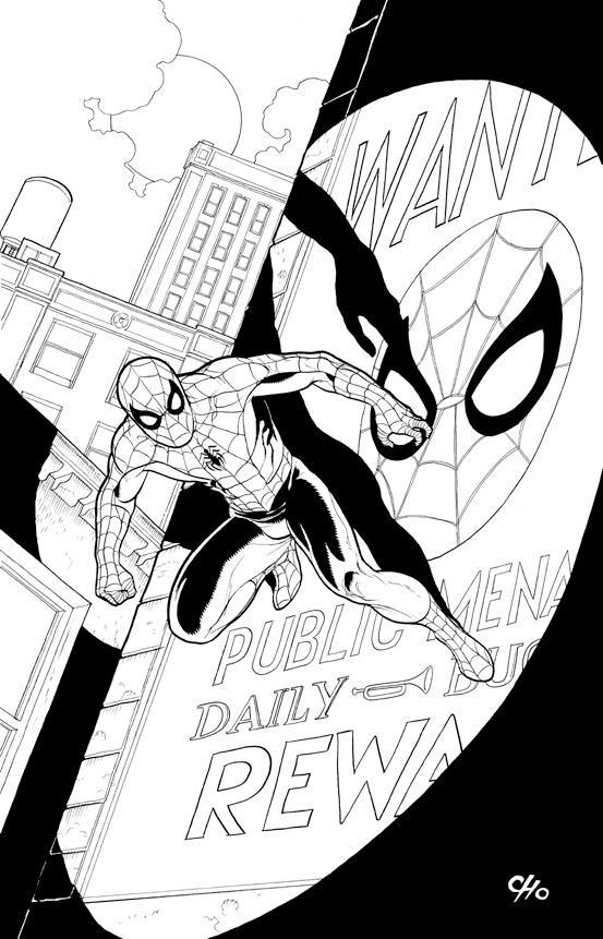 Amazing Spider Man 46 Comic Art Community Gallery Of Comic Art Frank Cho Black And White Artwork Comic Art Community