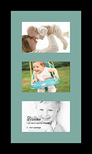 Arttoframes Collage Photo Frame Single Mat With 3 4x6 Openings And