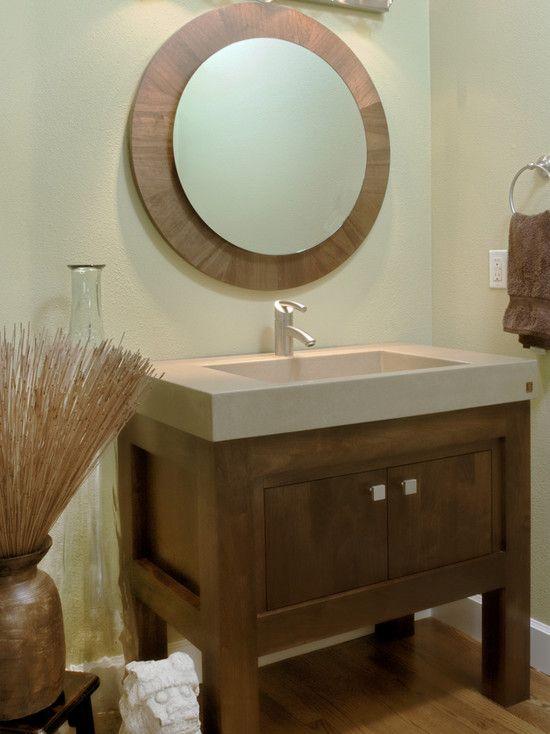 Powder Room Craftsmen Vanity Design, Pictures, Remodel, Decor and ...
