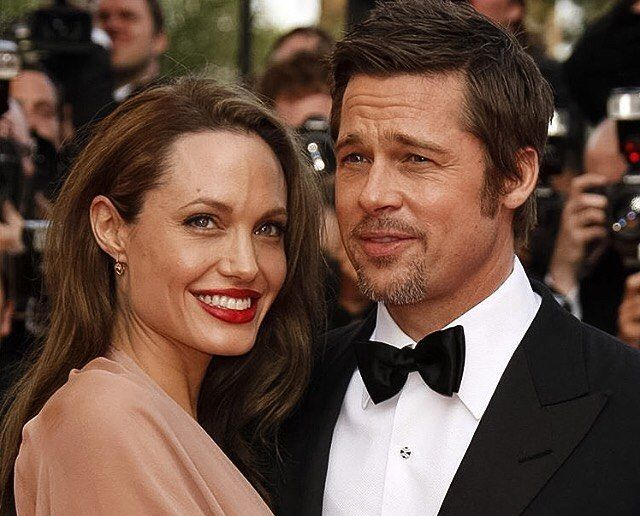 Brad Pitt & Angelina Jolie at 'Inglourious Basterds' Cannes Premiere at 2009 Cannes Film Festival. #celebrity #cannes #festivaldecannes #bradpitt #angelinajolie