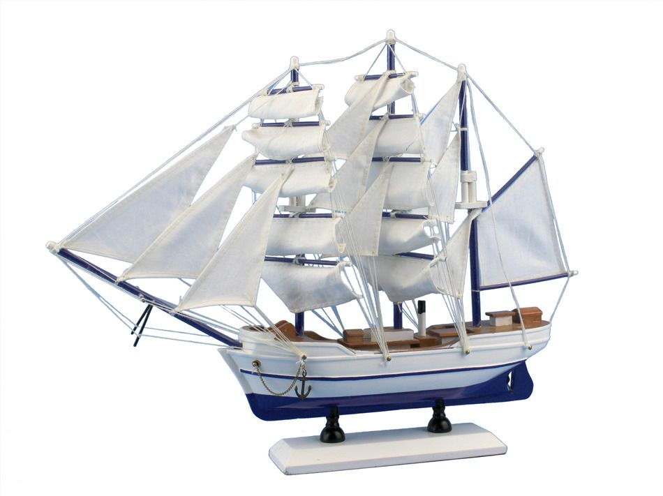 Wooden Malibu Decorative Sailing Model Ship 15 From Handcrafted Model Ships Model Ships Model Sailboat Model Sailboats