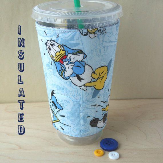 Donald Duck Disney Cup cozy Fab Five Coffee by DeegeeMarieGifts