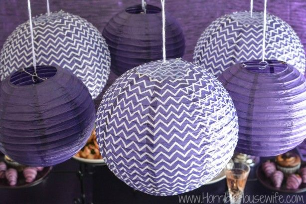 Diy Purple Paper Lantern Tutorial For High Impact Low Cost Party Decorations