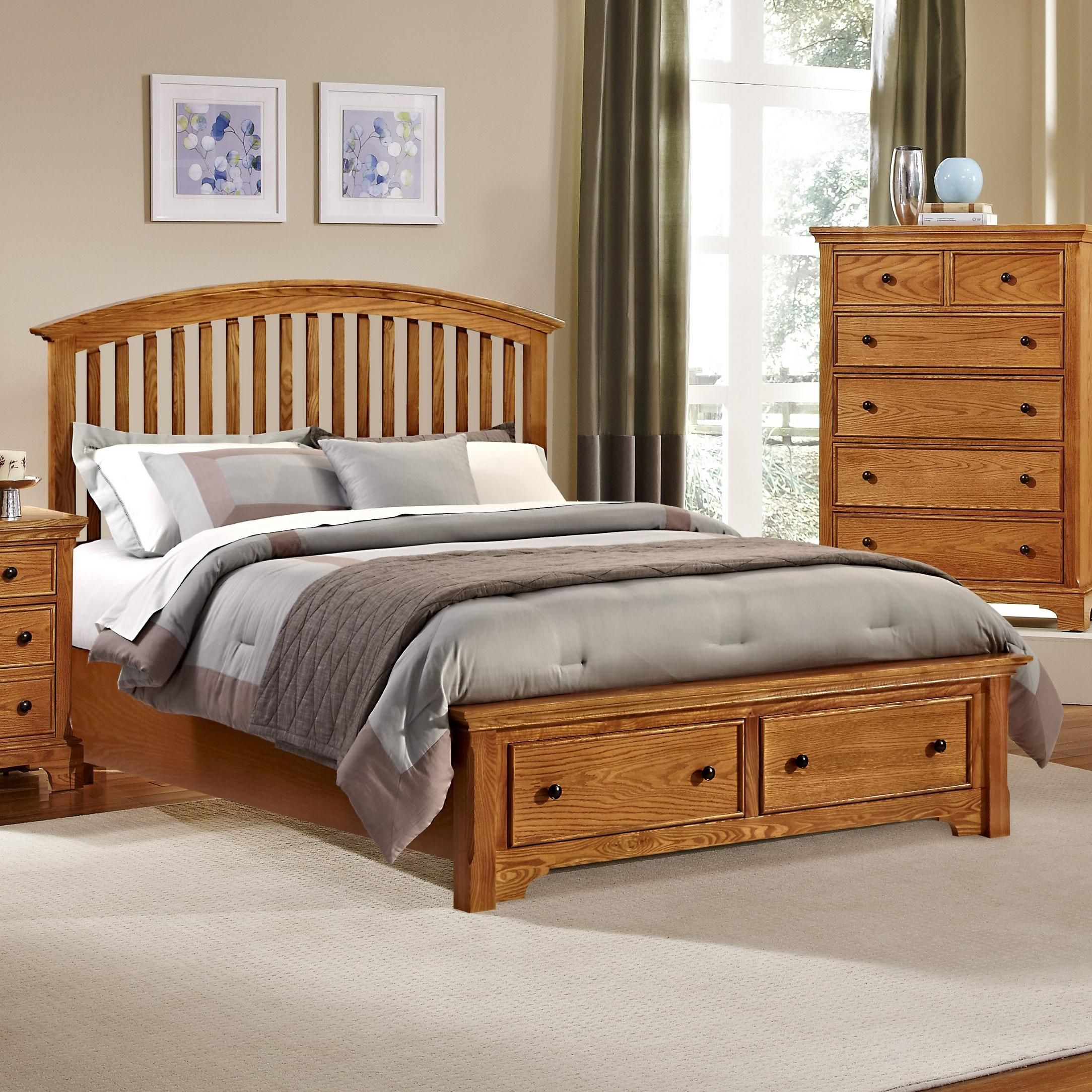 Forsyth King Arched Storage Bed by Vaughan Bassett at