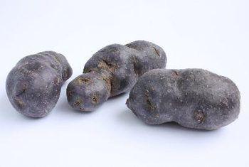Vitelotte potatoes image by lefebvre_jonathan from Fotolia.com