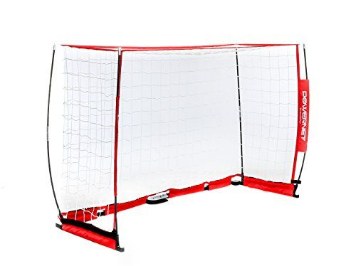 c193e9c5c PowerNet Soccer Goal 6ft x 4ft Portable Bow Style Net | Collapsible Metal  Base | Durable