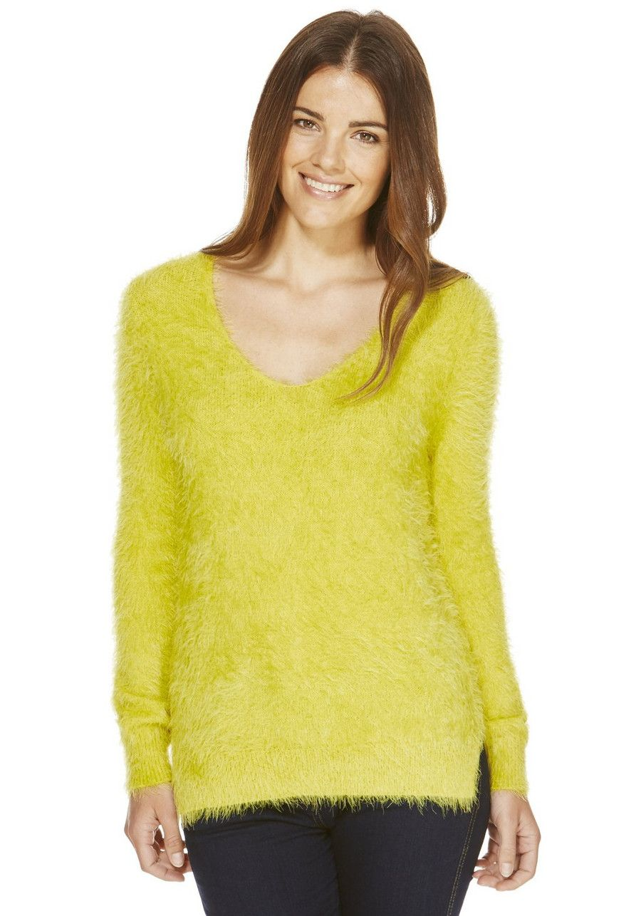 women preview of pretty cool Clothing at Tesco | F&F Eyelash Knit Jumper > knitwear ...