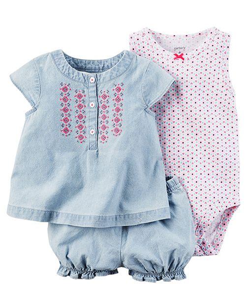 f7ff597c9 Moda primavera verano 2018 ropa para bebés. Carter's bebés primavera verano  2018.