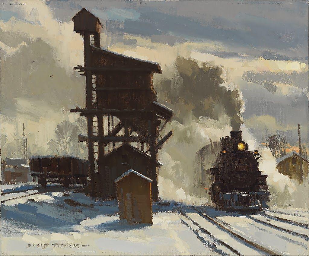 David Tutwiler American Railroad Art Steam art, Train