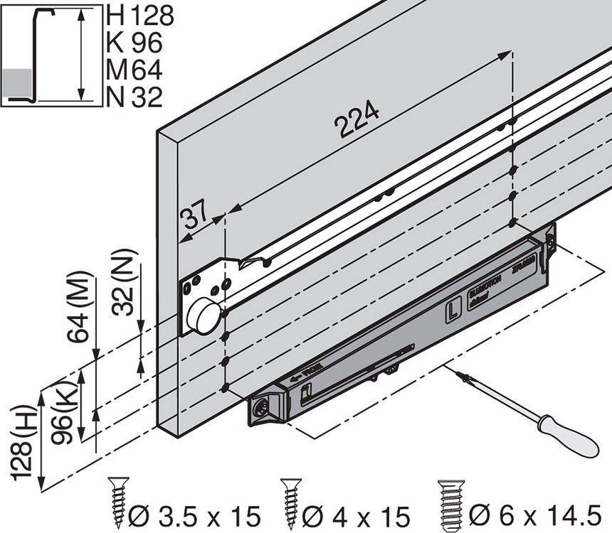 Blum Z70 0320 BLUMOTION for METABOX   met   Floor plans, Diagram