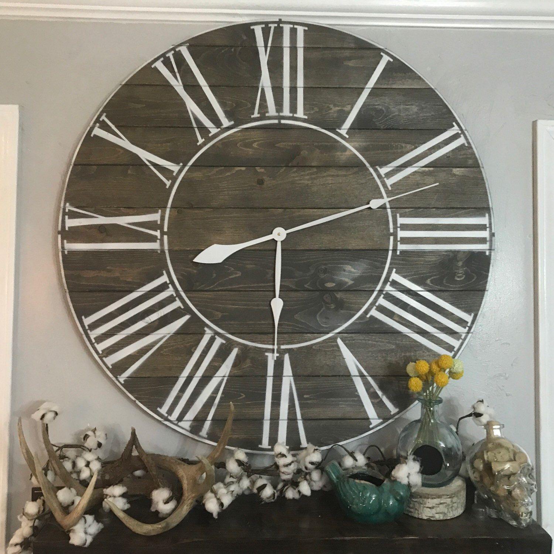 36 Vintage Ash Roman Numeral Clock Two Moose Design