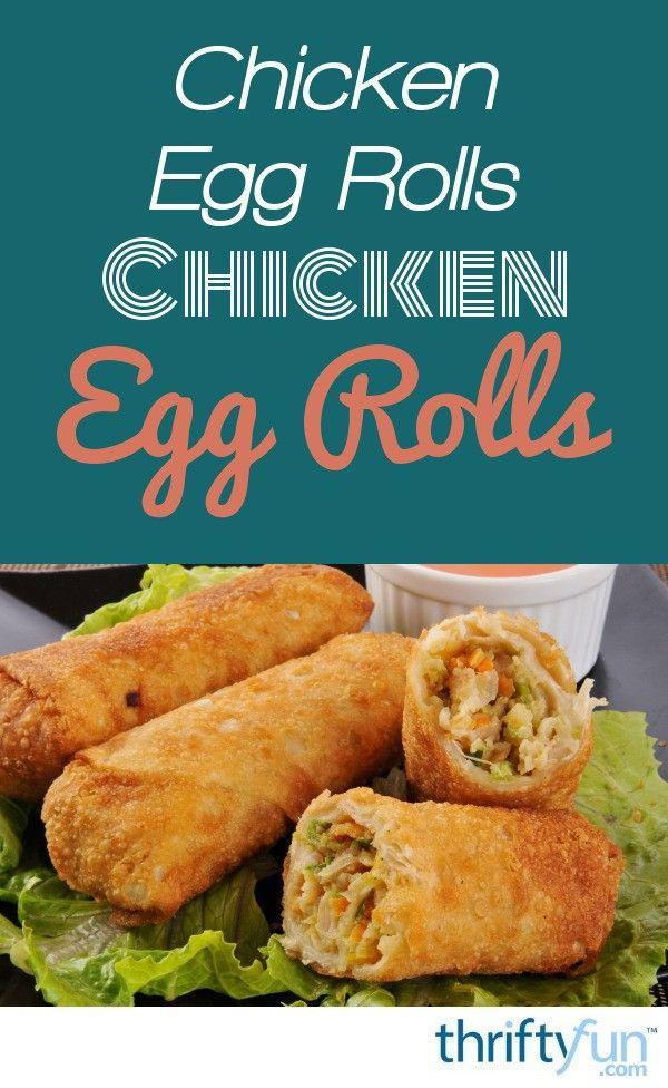 Making Chicken Egg Rolls
