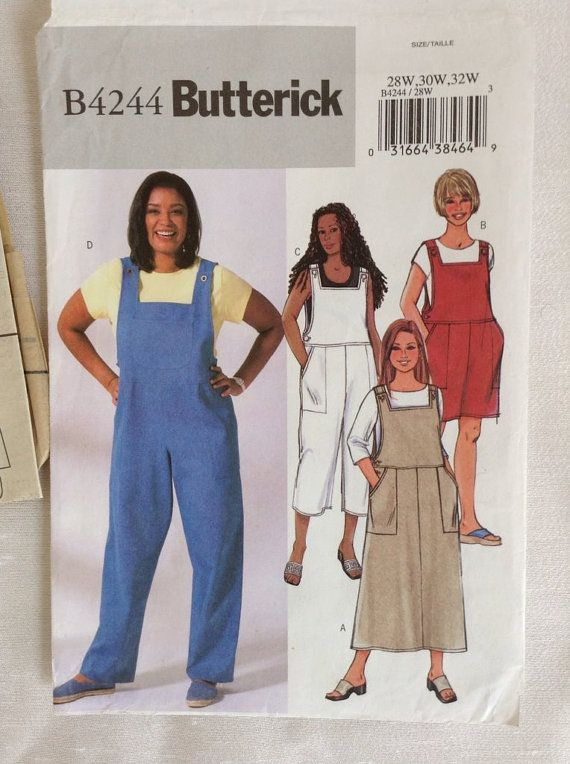 Womens Full Figure Jumper & Overalls Pattern by SewLovedFabric ...
