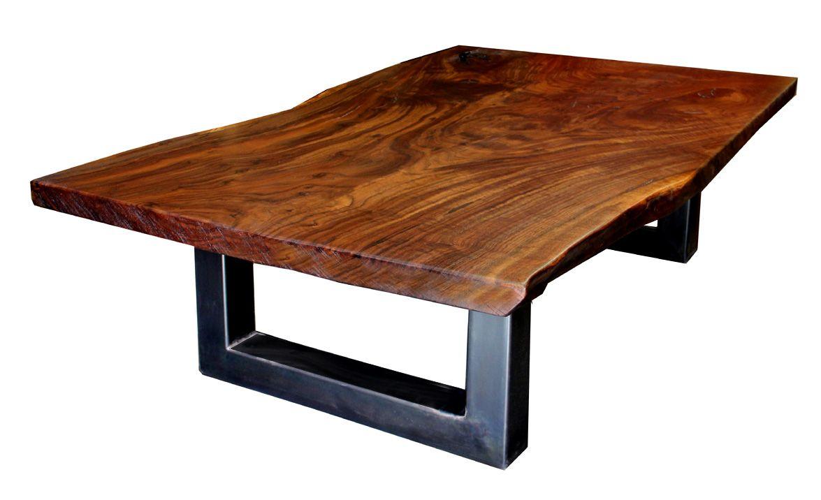 Table De Salon Acier Et Bois Massif Deco Pinterest # Table Tv Bois Brut