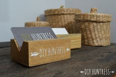 Diy Wooden Business Card Holder With Images Wooden Business
