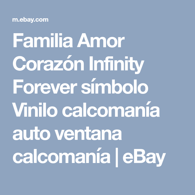 Family Love Heart Infinity Forever Symbol Vinyl Decal Car Window