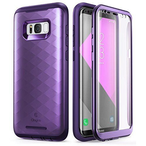Black Full-Body Rugged Clear Bumper Case with Built-in Screen Protector for Samsung Galaxy S8 2017 Release Samsung Galaxy S8 case i-Blason Ares