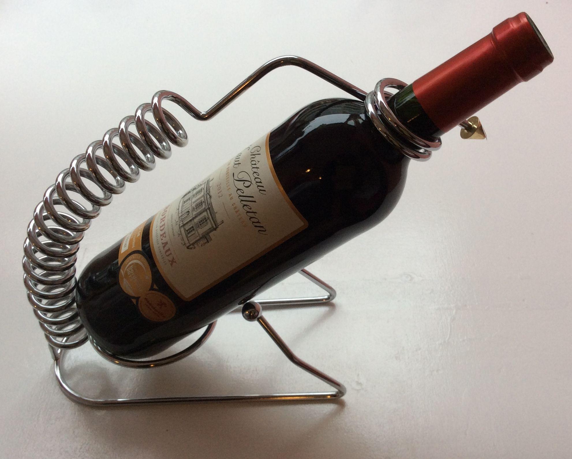 krominen viinipulloteline viinin tarjoiluun 80-luvulta MYYTY