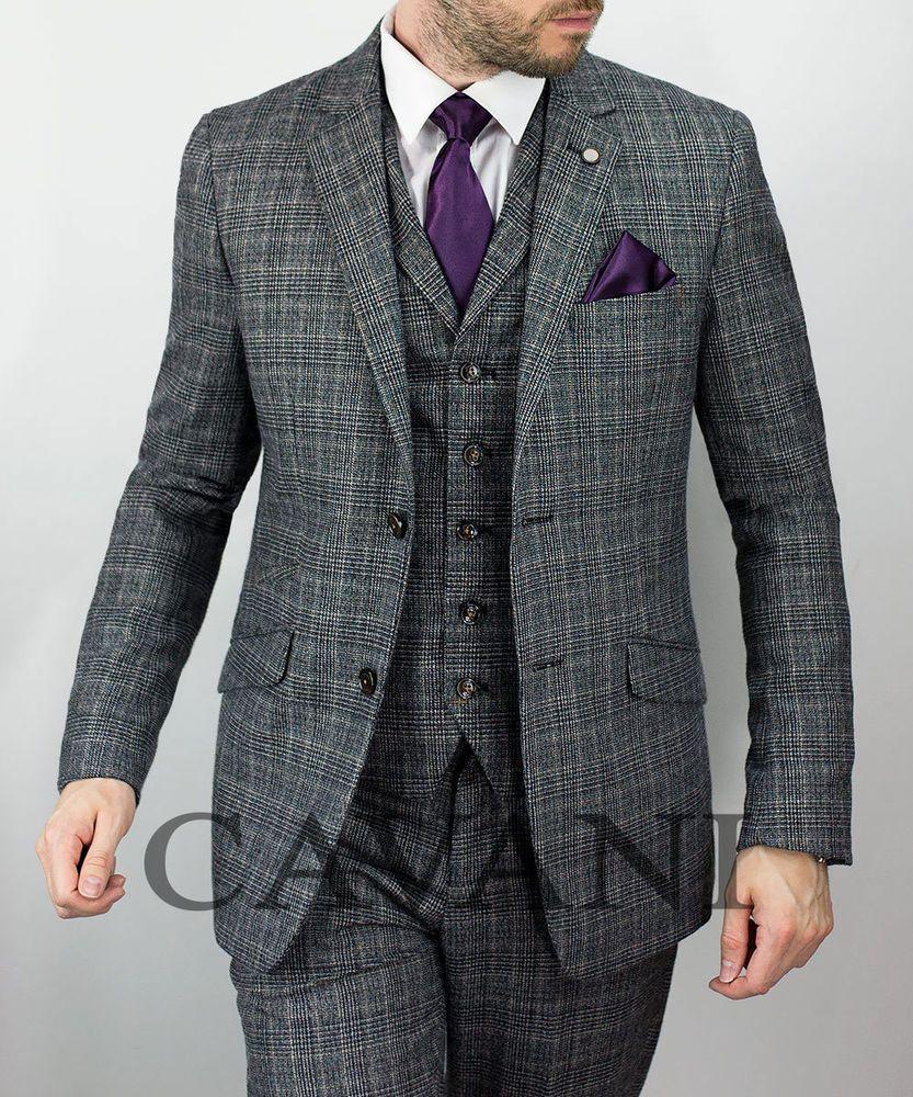Mens Cavani Designer Tweed Summer Light Blue Blazer Dinner Formal Jacket New