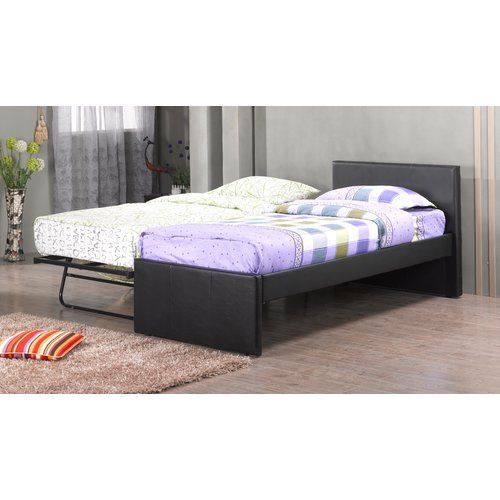 Metro Lane Lisa Guest Bed With Trundle Bed Frame With Mattress
