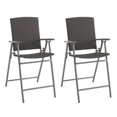 All Weather Wicker Balcony Chairs Set Of 2 Outdoor