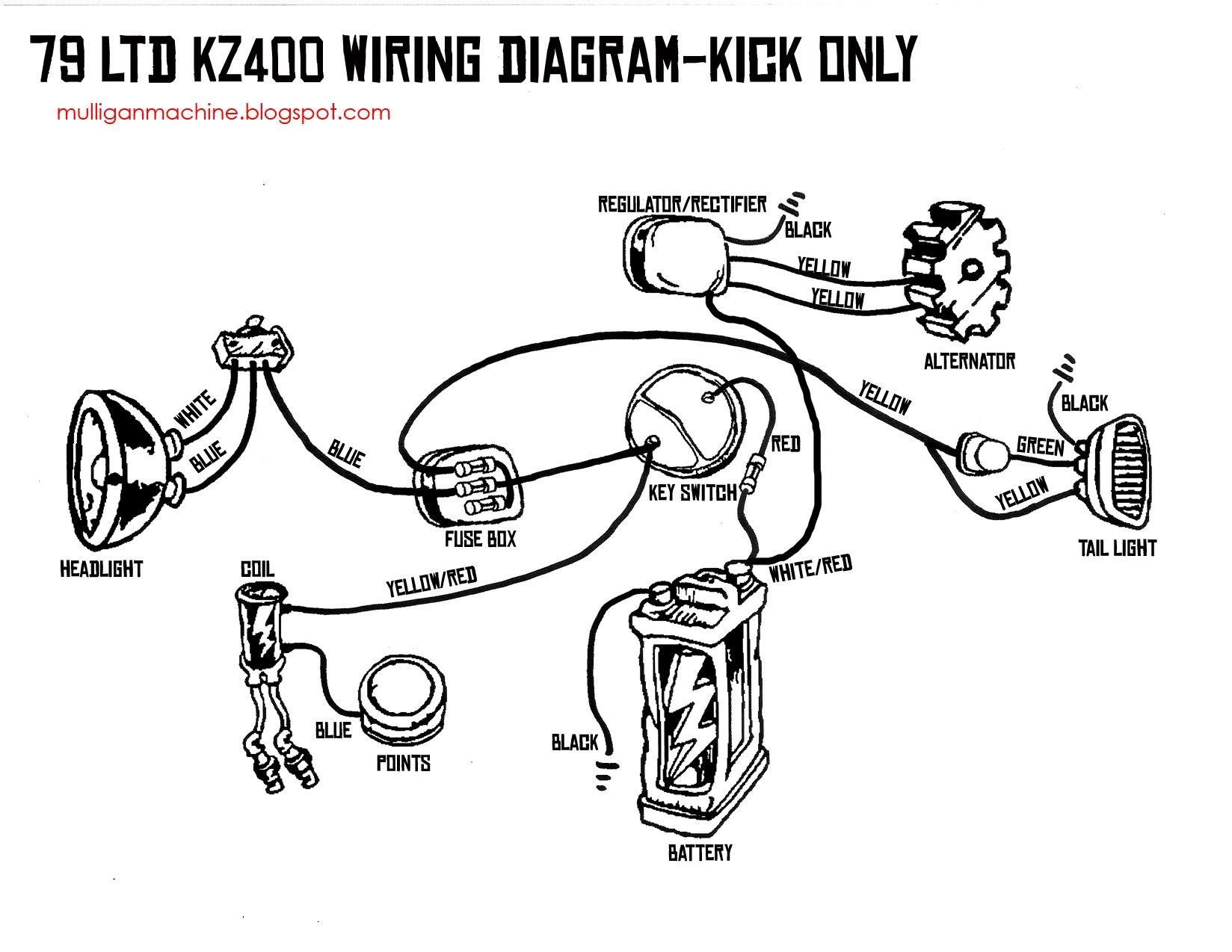 Kz400 bratcafe bangarang just cool stuff pinterest kick only wiring diagram pooptronica