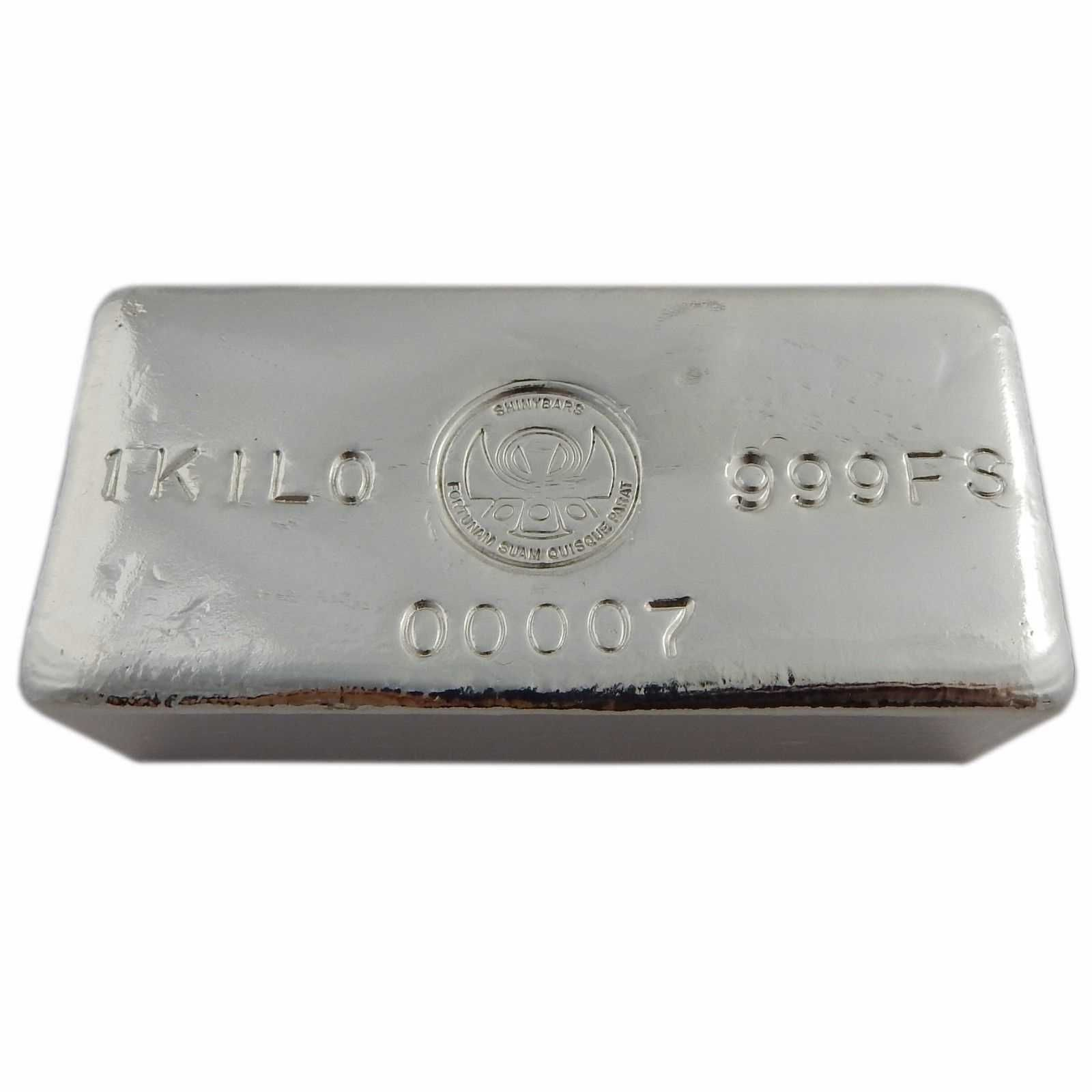 1 Kilo Silver Bar Logo Hand Poured By Shinybars Bar Logo Hand Logo Silver Bars
