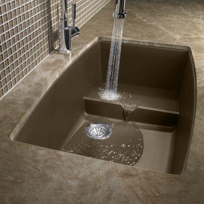 Wonderful Blanco 400887 Performa Cascade Single Bowl Undermount Kitchen Sink In Cafe