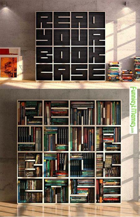 Very Cool Bookcase Bucherregal Design Hausbibliothek Gemutliches Haus