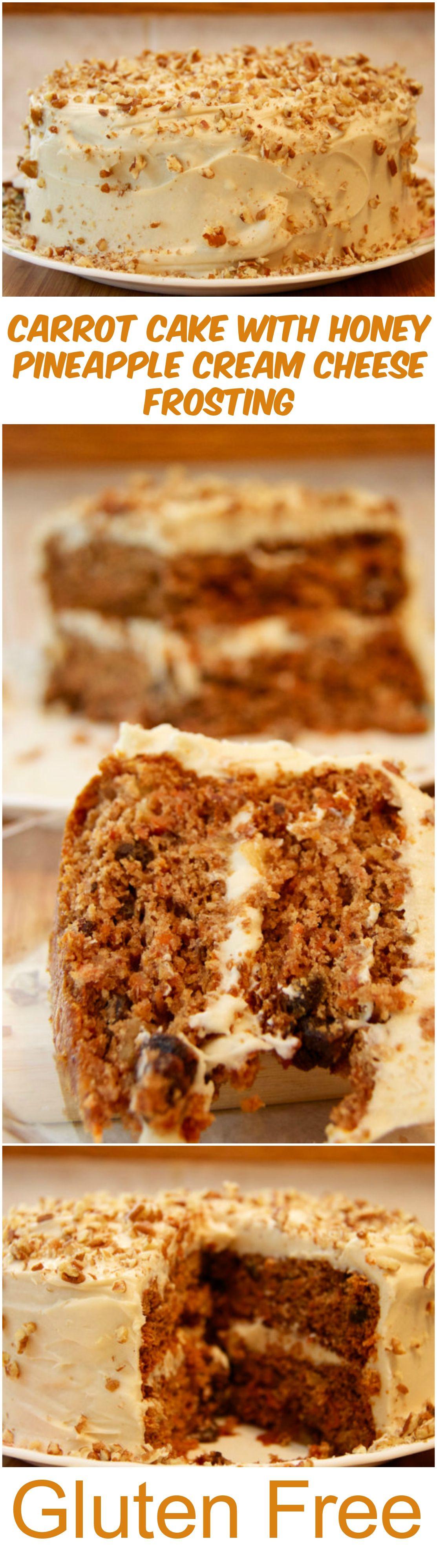 Gluten-Free Carrot Cake with Honey Pineapple Cream Cheese Frosting {Recipe}, Healthy Dessert Recipe, #glutenfree #sugarfree #lowsugar #ad #cleaneating #healthyeating
