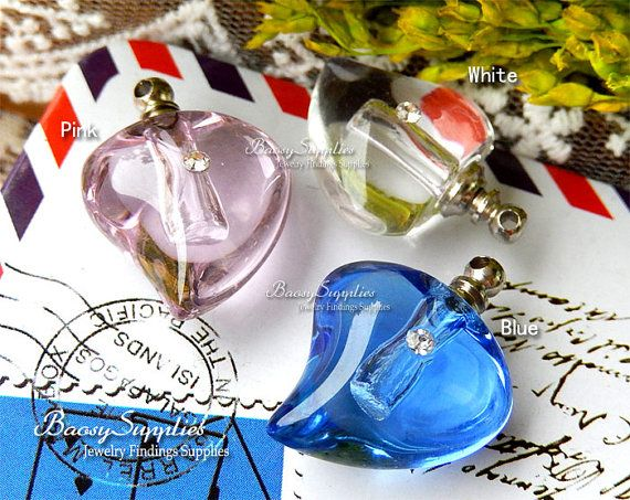 4PCS 25mm Crystal tiny glass Vial Perfume bottles Perfume by baosy, $1.99