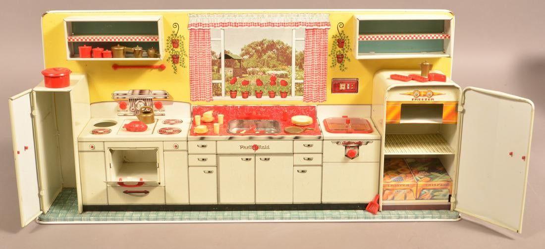 Https Www Liveauctioneers Com Item 73491425 Marx Modern Kitchen Set In The Original Box Modern Kitchen Set Kitchen Sets Modern Kitchen