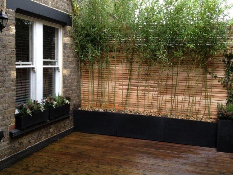 Balkon Sichtschutz aus Bambus praktische und originelle