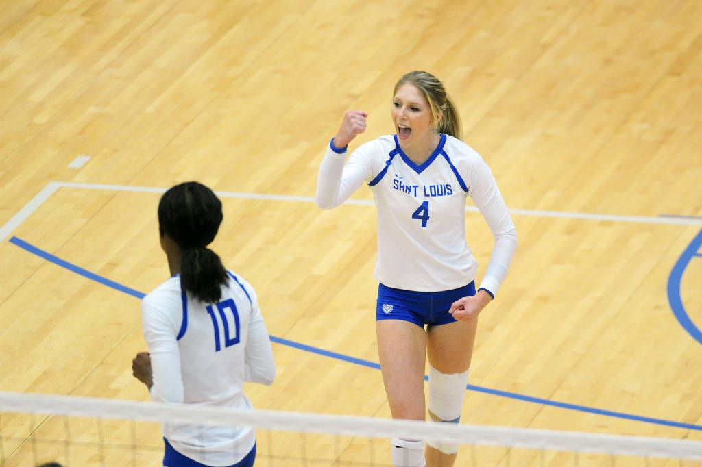 Rygelski Named Atlantic 10 Volleyball Player Of The Year Saint Louis University Volleyball Players Volleyball News Saint Louis University