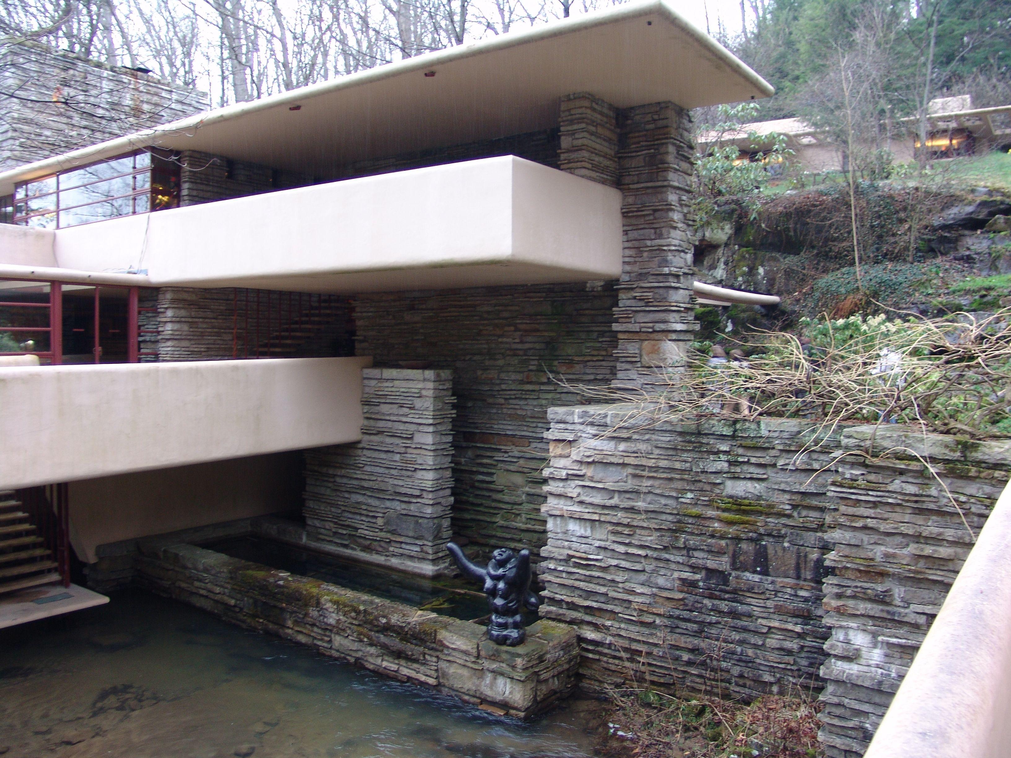 Explorez maison de leau et plus encore pin fallingwater by frank lloyd wright