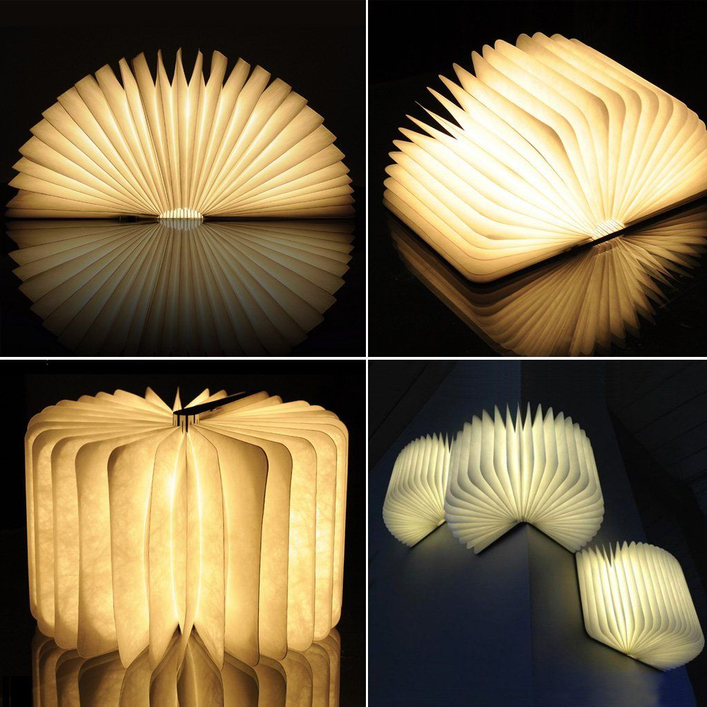 Amazon Book Light Mesmerizing Excelvan Wooden Folding Led Booklight Lamp Nightlight 500 Lumens Inspiration