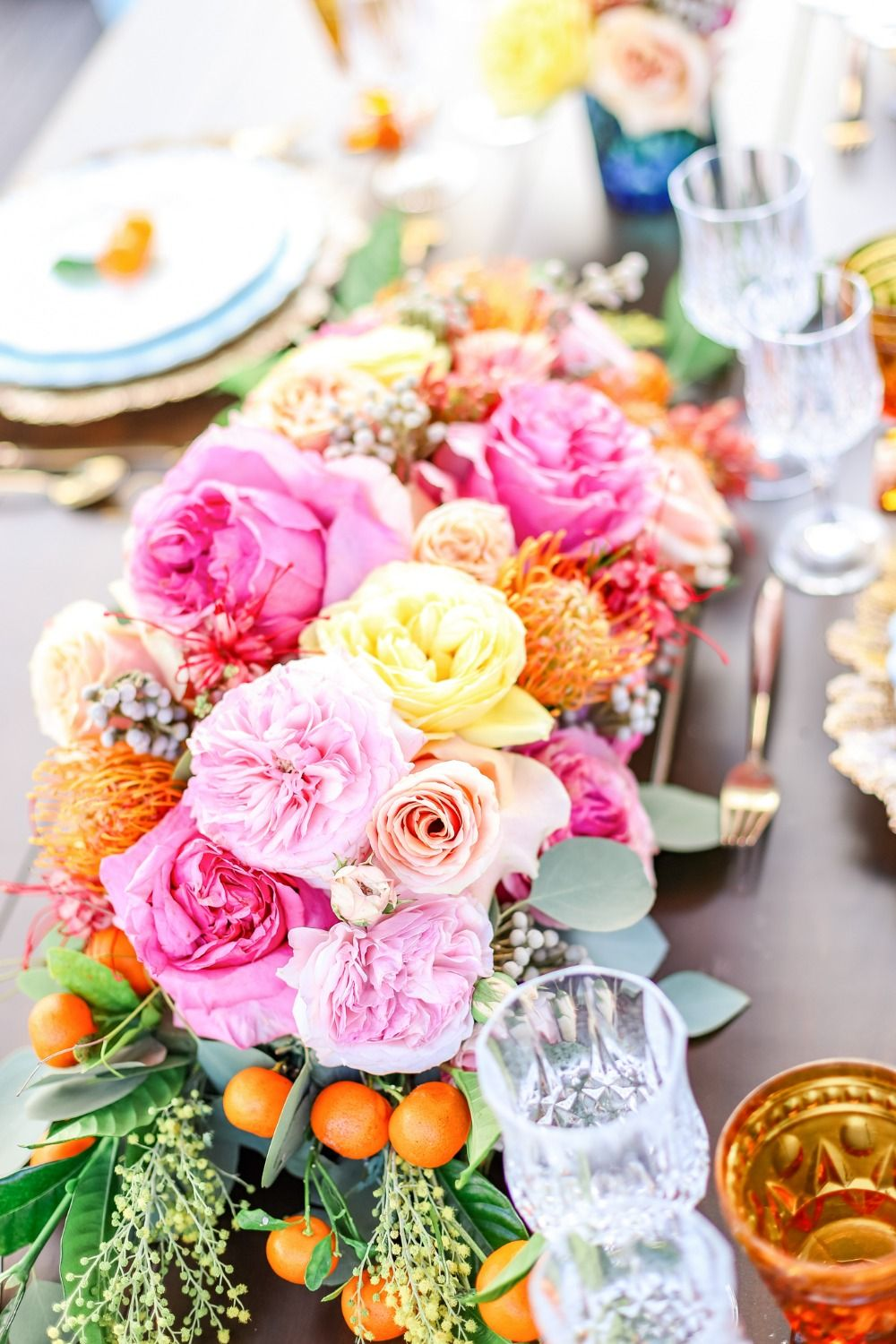 Plan A Bright And Colorful Florida Coast Wedding Like This Table